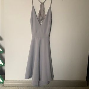 Lilac/gray dress with lace detail